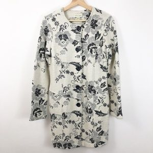Lucy and Laurel Wool Ivory Floral Print Jacket